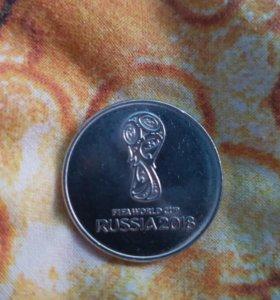 Монета 25 руб, 2018 футбол