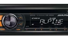 Alpine CDE-120RR USB/MP3/CD-ресивер новый гарантия