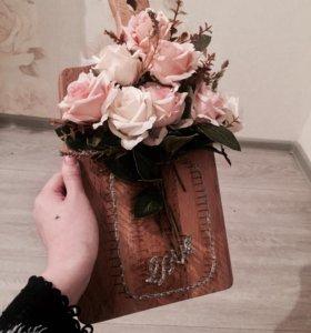 Доска с цветами