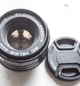Гелиос-44М-4 МС №90353614 адаптирован для Nikon F