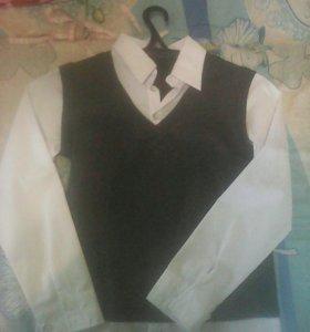 Рубашка на мальчика(обманка)
