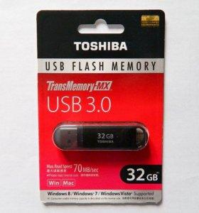 USB 3.0 флешка Toshiba 32GB, 16GB Suzaku (новая)