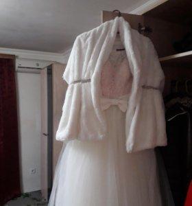 Свадебное платье накидка фота перчатки