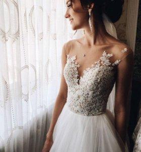 Свадебное платье Milla Nova Chelsi + фата