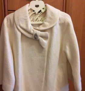 Пальто свадебное