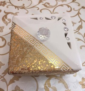 Шкатулка, золото 24 карата +Swarovski