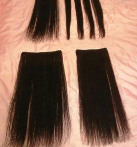 Волосы на заколках из натуральных волос