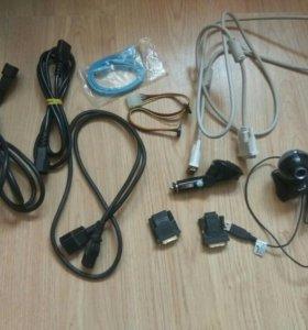Провода,переходники,камера,FM трансмиттер