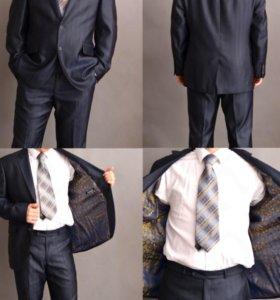 Костюм, брюки, рубашка, галстук