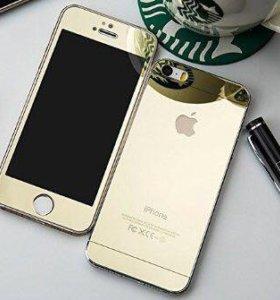 Комплект золотых стёкол Apple iPhone 5/5S