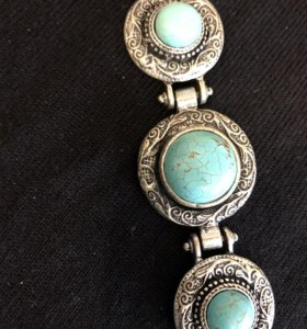 Серебряный браслет с бирюзой 925*