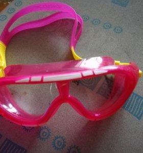 Очки-маска для плавания для девочки
