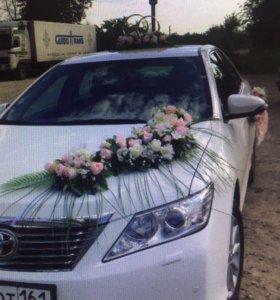украшение на машину свадебное