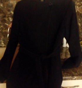 пальто демисезонное классическое темно-синие