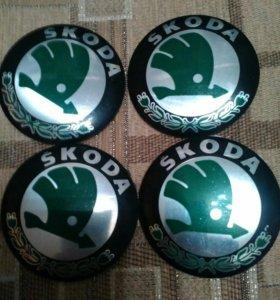 Наклейки на заглушки для дисков Шкода(shkoda)