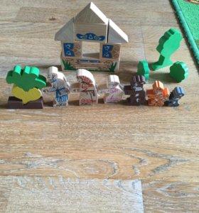 Деревянный конструктор для малышей томик