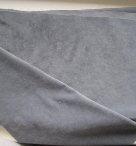 Отрез ткани. Велюр. Новая. Серый