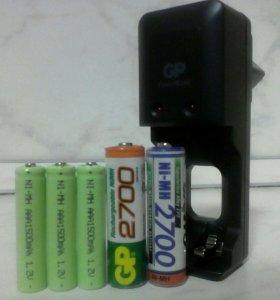 Зарядник + аккумуляторы
