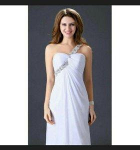 👗Белое вечернее платье р. 48-50