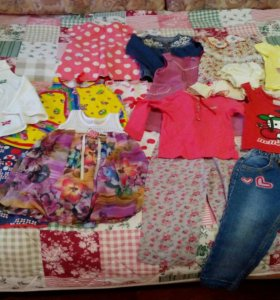 Пакет вещей на девочку 2-3 лет.