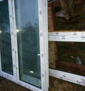Окна металопластиковые новые без ручек.