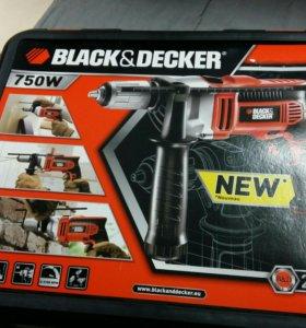 Ударная дрель black decker