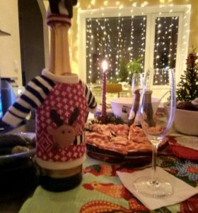 Свитерки на бутылку шампанского/вина