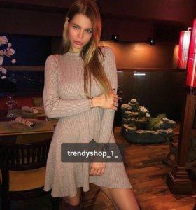 Новое трикотажное платье с биркой!!