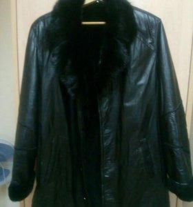 Куртка кожаная на меху.