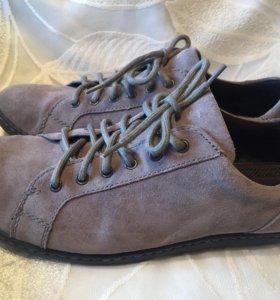 Ботинки мужские замшевые
