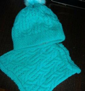 Комплект:шапка+снуд