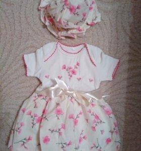 Платье на рост 68