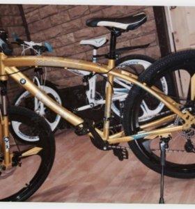 Велосипед Золотой BMW диски