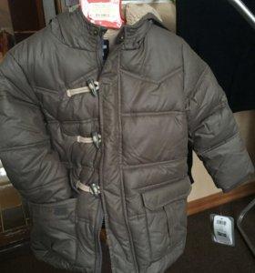 Новая детская куртка ЗИМА 4-5 лет
