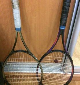 2 теннисные ракетки и чехлы