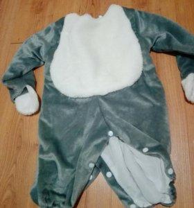 Новогодний детский костюм зайчика