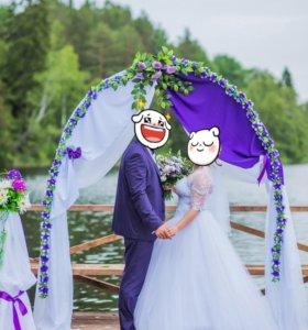 Украшение для арки и стоек для свадьбы