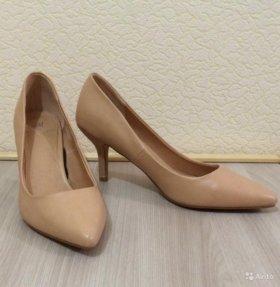 Туфли-лодочки женские hm, бежевые, новые, 38 р-р