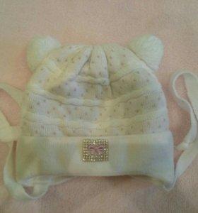 зимняя шапочка для новорожденных