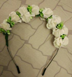 Ободок с цветами