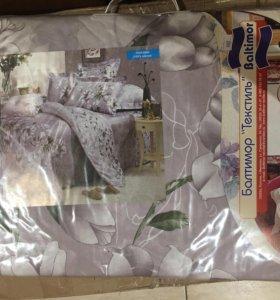 Постельное белье 1,5 спальный комплект (поплин)