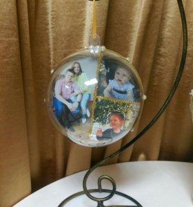 Новогодние шары с фото внутри