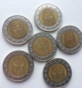 Монеты. Египетские фунты