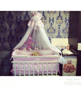 Детская кроватка-маятник ( трансформер )