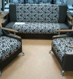 Диван + 2 кресла. Новые