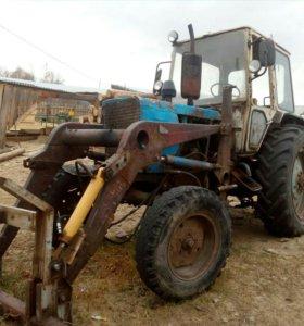 Продаю трактор юмз с куном, прицеп.