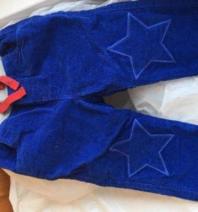 новые,вельветовые брюки на подкладке BabyBoden(UK)