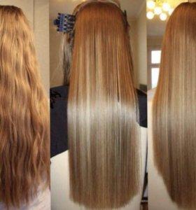 Кератиновое выпрямление, восстановление волос.
