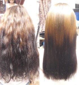Ресницы и волосы