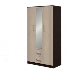 Новый шкаф Фиеста 3-х створчатый.